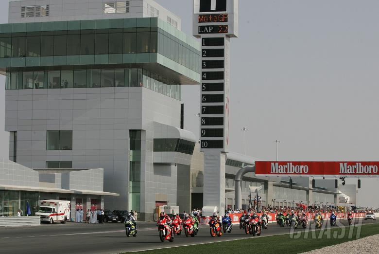 Start, Qatar MotoGP, 2004