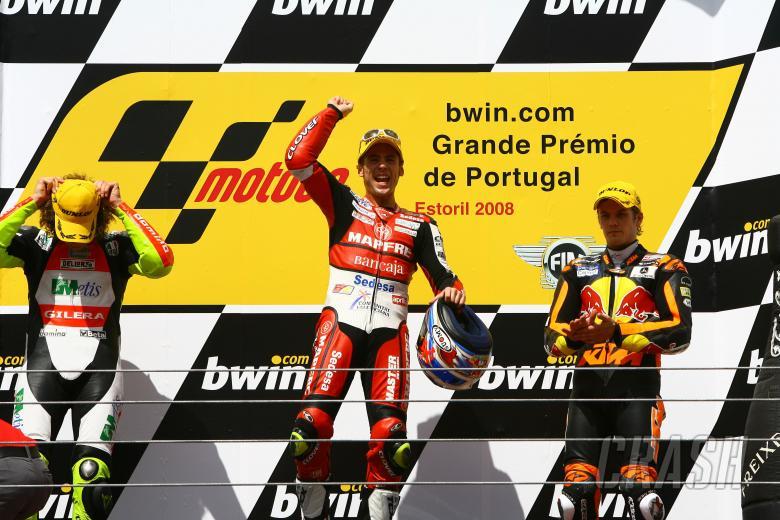 Bautista, Simoncelli, Kallio, Portuguese 250GP 2008