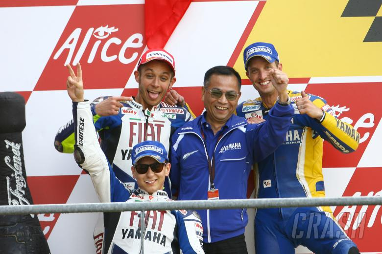 Lorenzo, Rossi, Furusawa and Edwards, French MotoGP Race 2008
