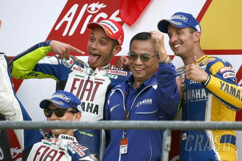 Rossi, Edwards, Lorenzo, Furusawa, French MotoGP Race 2008