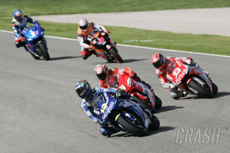 Abe, Capirossi, Melandri, Barros, Hopkins, Valencia MotoGP Race, 2004