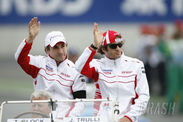 Timo Glock (GER) Toyota TF108, Jarno Trulli (ITA) Toyota TF108, French F1 Grand Prix, Magny Cours, F