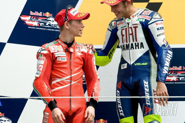 Stoner and Rossi, US MotoGP 2008
