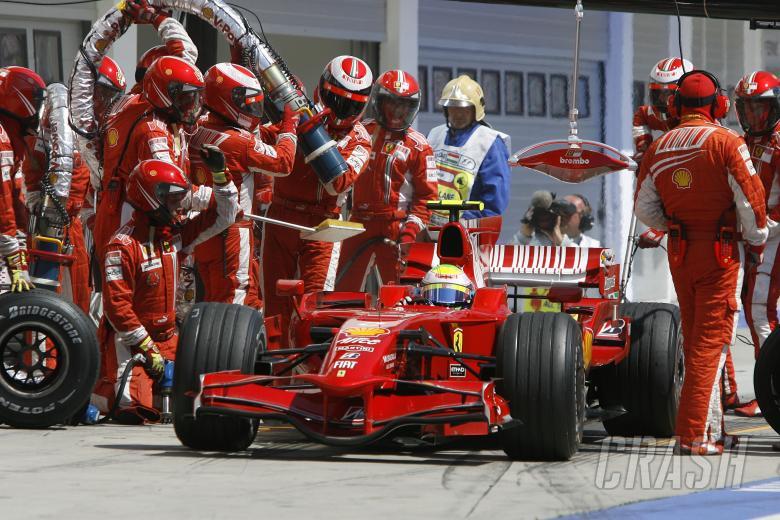 Felipe Massa (BRA) Ferrari F2008 Pitstop, Hungarian F1, Hungaroring, 1st-3rd, August, 2008