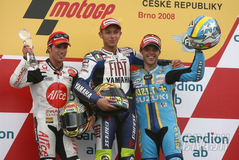 Elias, Rossi, Capirossi, Czech MotoGP Race 2008