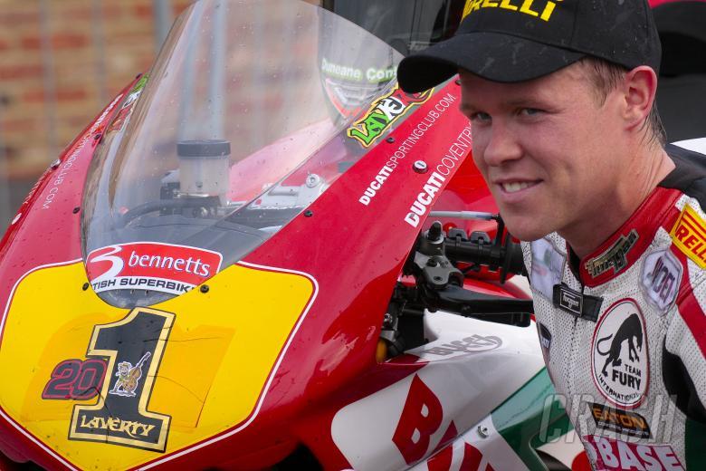 BSB Croft. Race 1. John Laverty 201. Buildbase NW 200 Ducati. Superbike Cup Winner.