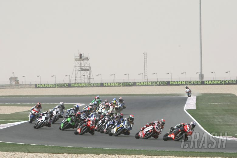 , , Biaggi, Race start, Qatar WSBK Race 1 2009