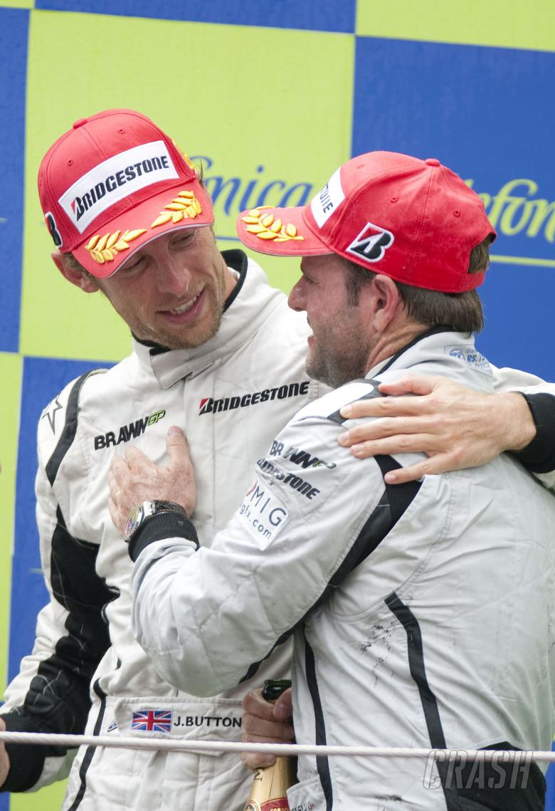 Jenson Button (GBR) Brawn BGP001, Rubens Barrichello (BRA) Brawn BGP001, Spanish F1 Grand Prix, Cata