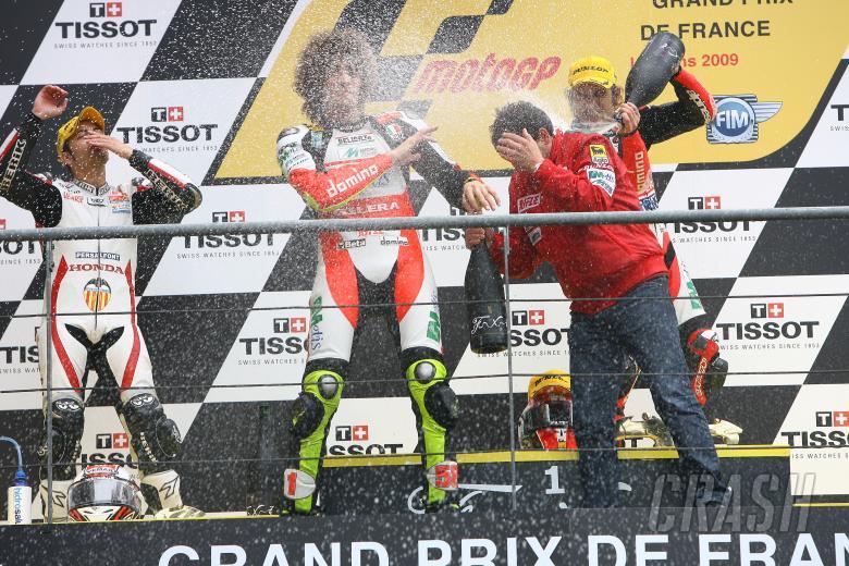 , , Faubel, Simoncelli and Locatelli, French 250GP Race 2009