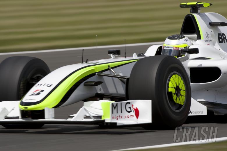 Rubens Barrichello (BRA) Brawn BGP001, British F1, Silverstone, 19th-21st, June, 2009