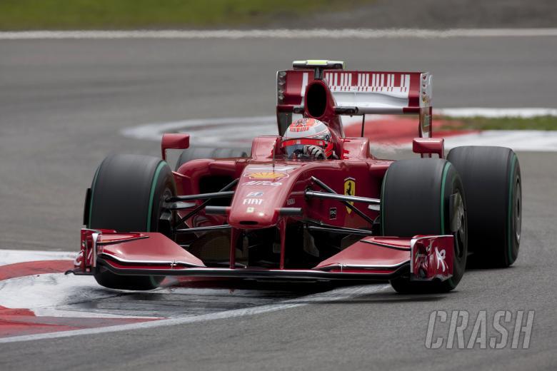 Kimi Raikkonen (FIN) Ferrari F60, German F1 Grand Prix, Nurburgring, 10-12th, July 2009