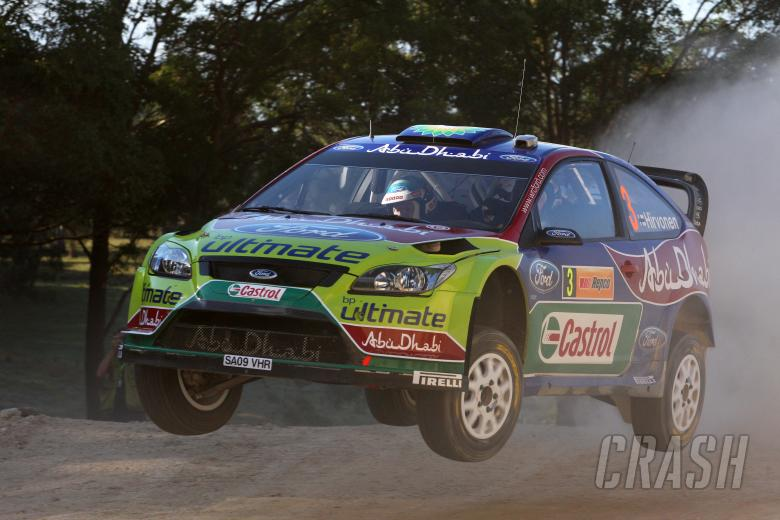 Mikko Hirvonen (FIN) Jarmo Lehtinen(FIN) Ford Focus RS WRC09, BP Ford Abu Dhabi World Rally Team