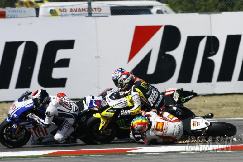 Edwards and De Angelis crash, San Marino 125GP 2009