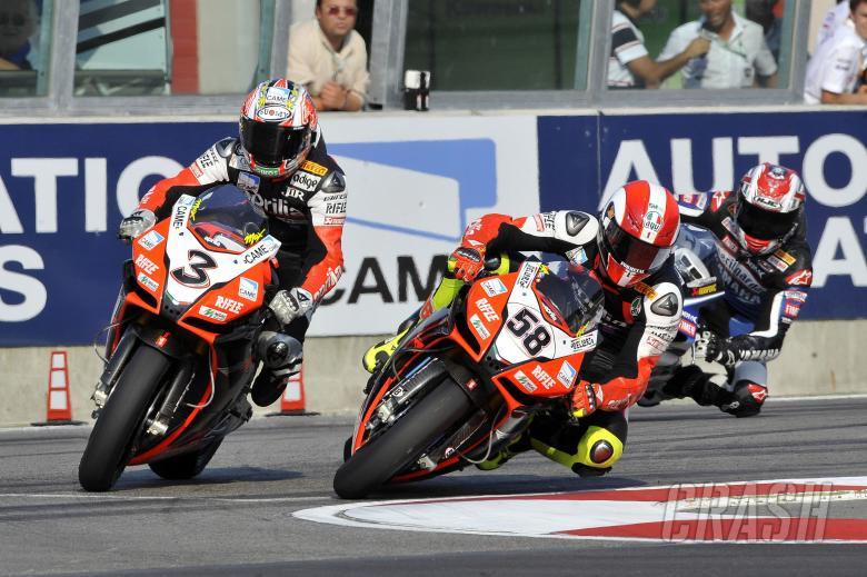 Simoncelli, Biaggi, Imola WSBK Race 2 2009