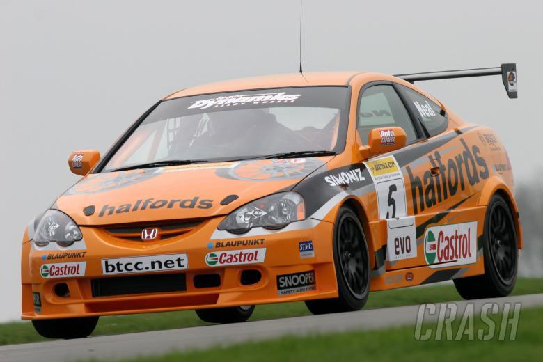 Matt Neal in the new Honda Integra