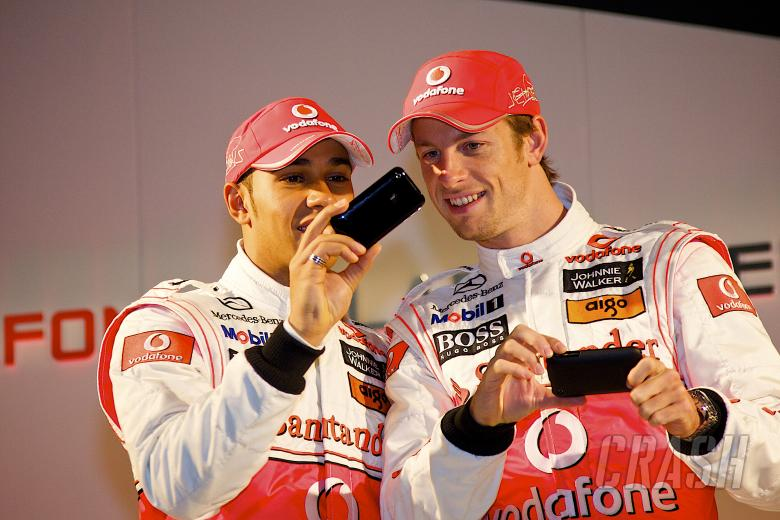 , , Lewis Hamilton (GBR), Jenson Button (GBR), McLaren MP4-25 Launch, Newbury, GB, Vodafone, Mercedes