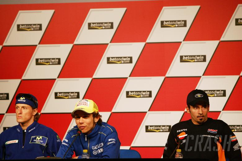 Gibernau, Rossi and Biaggi, Spanish MotoGP 2005
