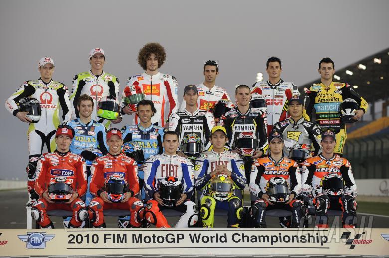 Rider line-up, Qatar MotoGP Test 2010