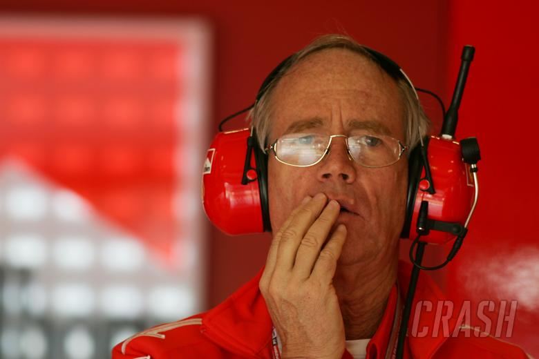 , , Rory Byrne (RSA) Ferrari Chief Designer San Marino Grand Prix, Formula One, Saturday , 21/04/05, Imo
