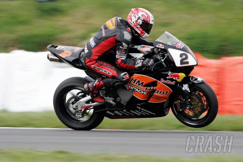 , , 23.4.05British Superbike Championship. Round 3, Mallory Park, Leicestershire. Michael Rutter, HM Pla