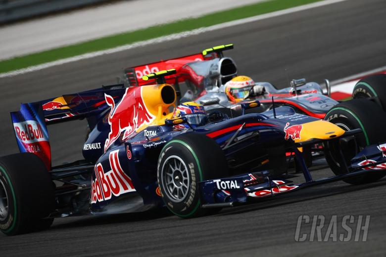 Race, Mark Webber (AUS), Red Bull Racing, RB6 and Lewis Hamilton (GBR), McLaren  Mercedes, MP4-25