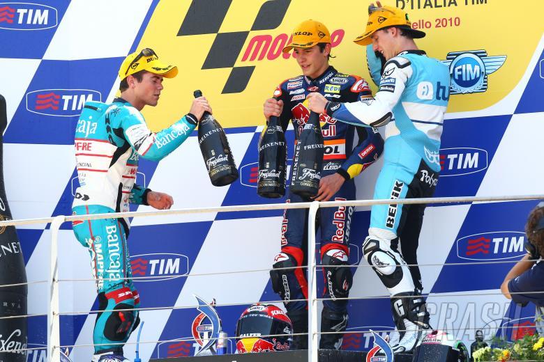 Terol, Marquez, Espargaro, 125 race Italian GP 2010