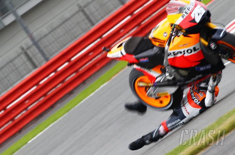 Pedrosa crash, British MotoGP 2010