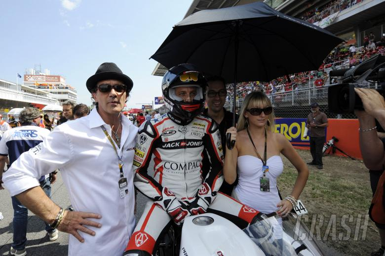 Antonio Banderas and Noyes, Catalunya Moto2 Race 2010