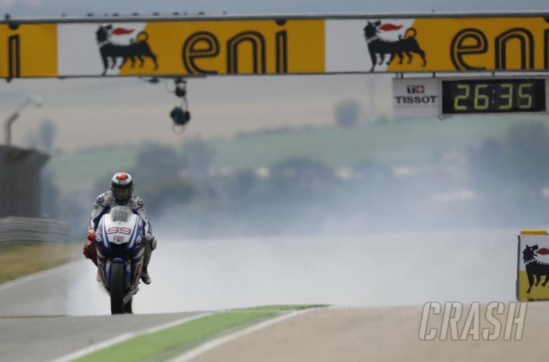 Lorenzo, engine blow-up, German MotoGP 2010