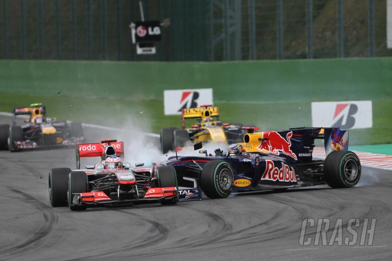 Race, Sebastian Vettel (GER), Red Bull Racing, RB6 and Jenson Button (GBR), McLaren  Mercedes, MP4-2