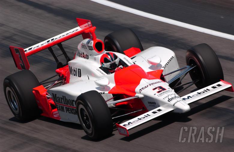 Helio Castroneves, Marlboro Team Penske Dallara-Toyota, 2005 Indy 500.