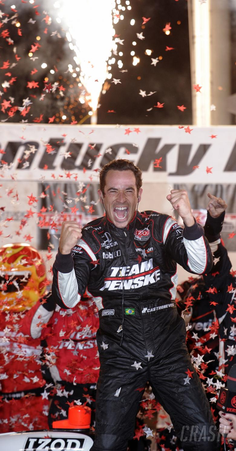 3-4 September, 2010, Sparta, Kentucky USA #3 Team Penske's Helio Castroneves, race winner.
