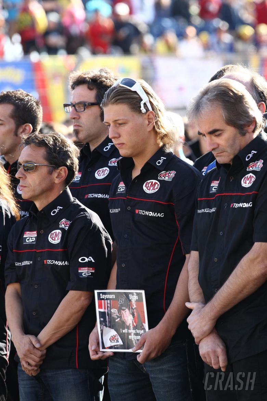 Aegerter and Bigot at Tomizawa rememberance, Aragon MotoGP 2010