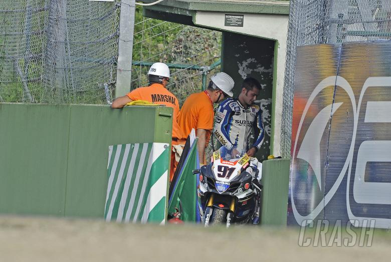 Haslam, Retired after engine blow up, Imola WSBK Race 2 2010
