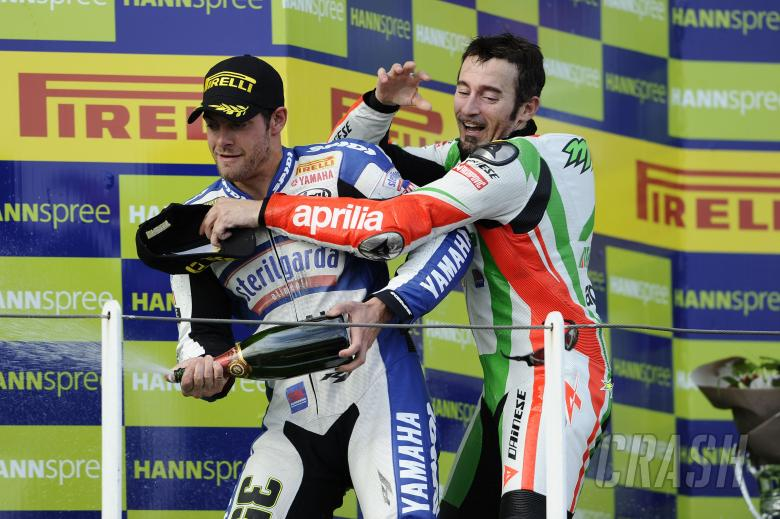 Crutchlow, Biaggi, argument, French WSBK Race 2 2010