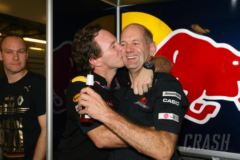 Celebration, Sebastian Vettel (GER), Red Bull Racing, RB6 race winner and 2010 champion, Christian H