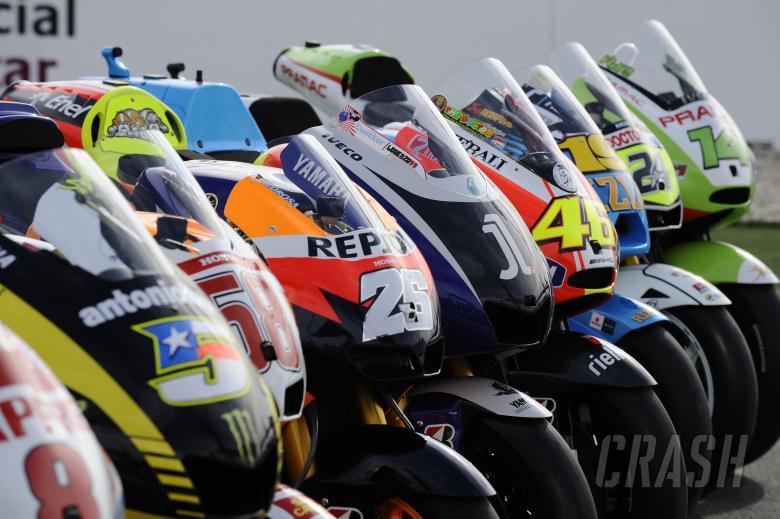 MotoGP bike line-up, Qatar MotoGP 2011