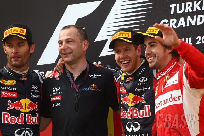 08.05.2011- Race, Sebastian Vettel (GER), Red Bull Racing, RB7 race winner, Mark Webber (AUS), Red B