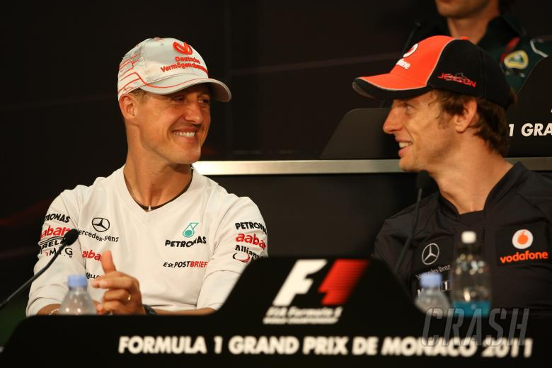 25.05.2011- Press conference, Michael Schumacher (GER), Mercedes GP Petronas F1 Team, MGP W02 and Je