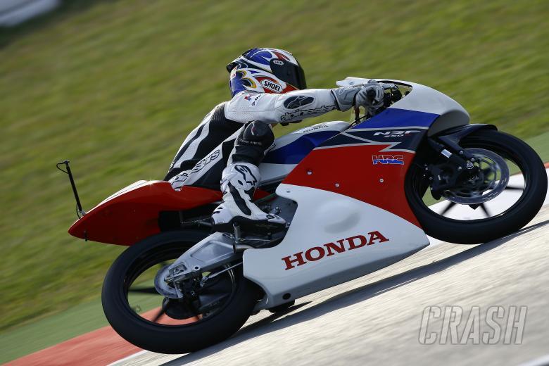 Criville riding the Honda Moto3, Catalunya MotoGP 2011