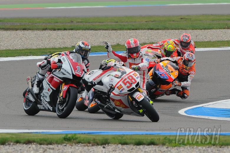 Simoncelli and Lorenzo, Dutch MotoGP Race 2011