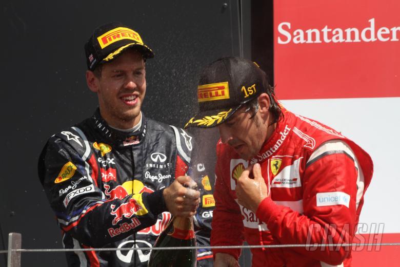 10.07.2011- Race, Fernando Alonso (ESP), Scuderia Ferrari, F-150 Italia race winner and Sebastian Ve