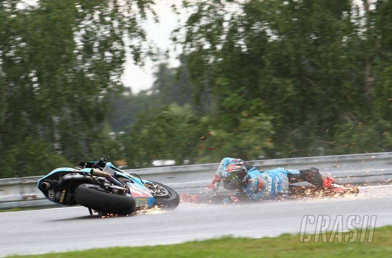 ,  - Hopkins crash, Czech MotoGP 2011