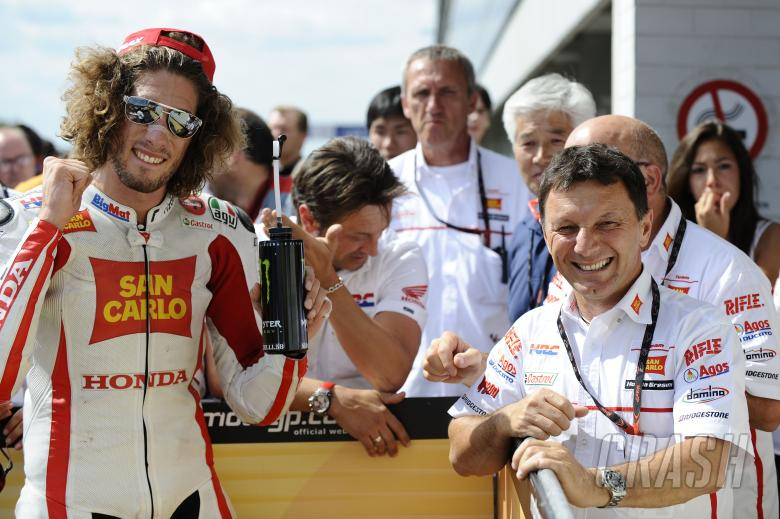 Simoncelli and Fausto Gresini, Czech MotoGP Race 2011