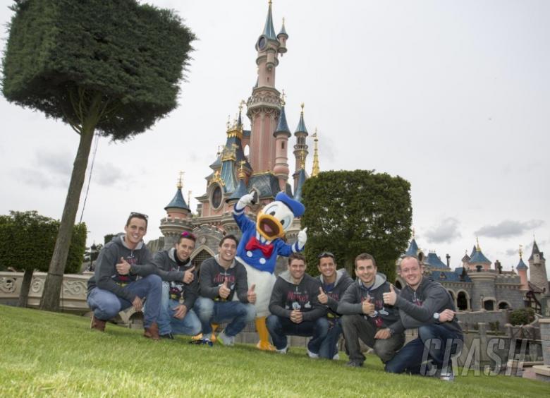 Disneyland visit for MotoGP riders