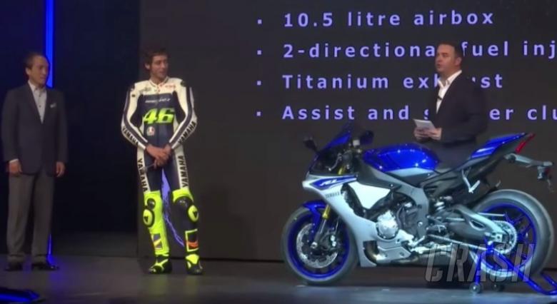 Rossi unveils new Yamaha R1 Superbike