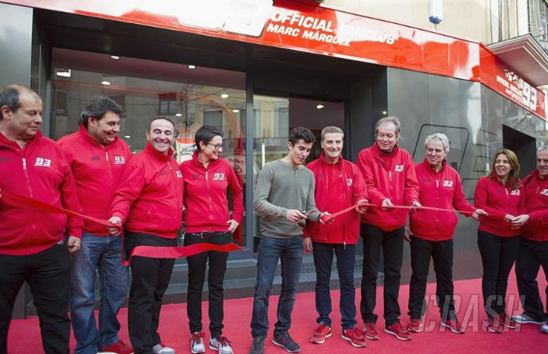 Marc Marquez opens new fan club HQ