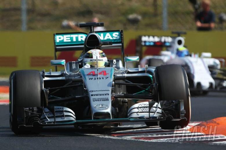 Hamilton opens up top as Perez flips