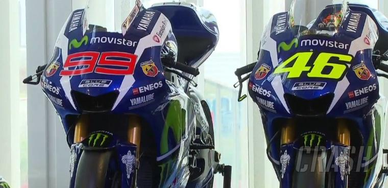 FIRST LOOK: Rossi, Lorenzo unveil 2016 Yamaha