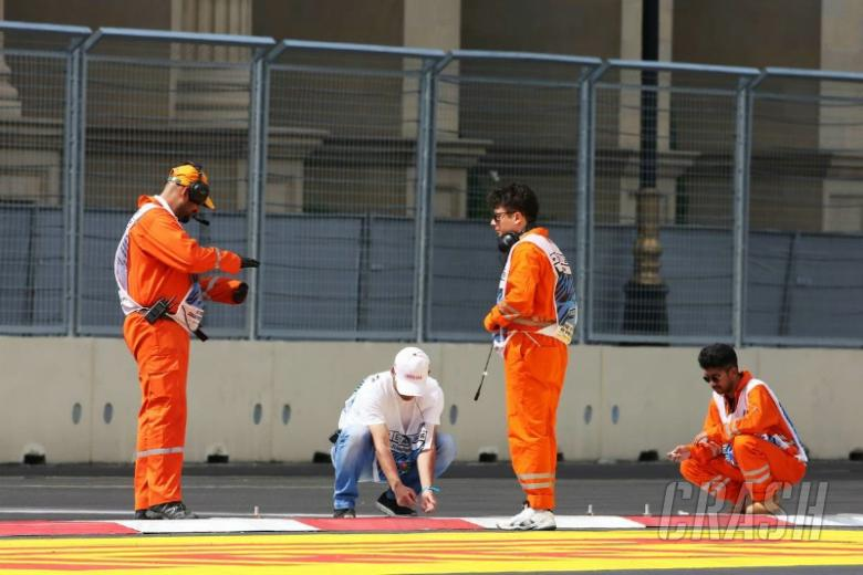 Kerb issues reported after Baku FP1